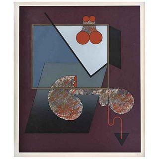 "MANUEL FELGUÉREZ, Untitled, Signed, Serigraph 34 / 100, 22.4 x 18.5"" (57 x 47 cm)"