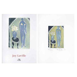 "JOY LAVILLE, Untitled, 2008, Signed, Aquatint 75 / 100, 3.5 x 2.5"" (9 x 6.5 cm)"