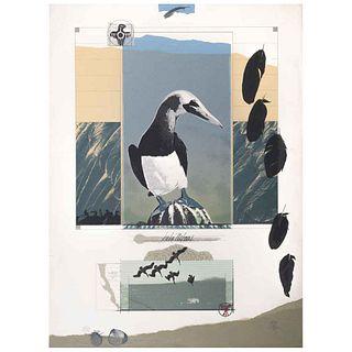 "CARLOS AGUIRRE PANGBURN, Untitled, Signed, Serigraph 50 / 50, 30.3 x 22.4"" (77 x 57 cm)"