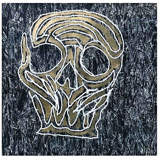 """EMILIANO GIRONELLA PARRA, Untitled, Signed, Woodcut with gold leaf 2 / 5, 48.8 x 48.8"""" (124 x 124 cm)"""