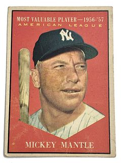 Mickey Mantle 1961 Topps #475 MVP Baseball Card