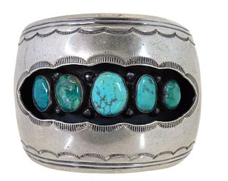 Navajo Turquoise & Sterling Silver Cuff