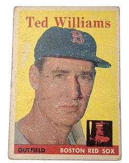 Ted Williams 1958 Topps #1 Baseball Card