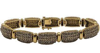 14K Gold Diamond Bracelet Appraised Value $7,142