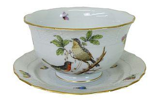 Herend Rothschild Bird Porcelain Cup & Saucer