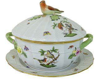Herend Rothschild Bird Porcelain Soup Tureen