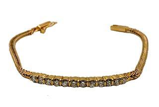 14K Gold Diamond Bracelet Appraised value $3,259