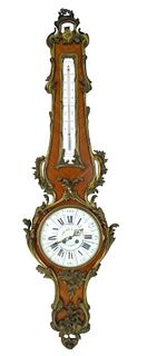 Antique French Barometer Wall Clock
