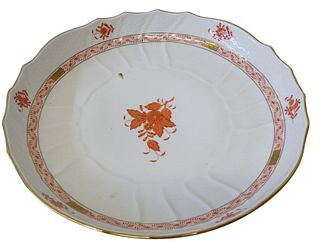 Herend Chinese Bouquet Rust Porcelain Dish