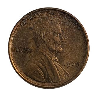1909 VDB Lincoln Cent Wheat Penny