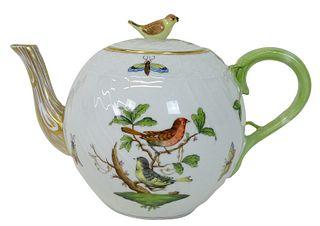 Herend Rothschild Bird Porcelain Teapot