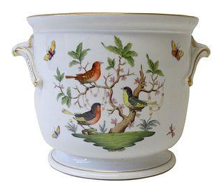 Herend Rothschild Bird Large Porcelain Cache Pot