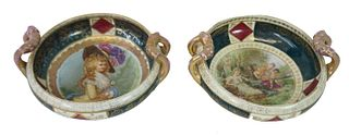 Pair of Royal Vienna Style Porcelain Serving Bowls