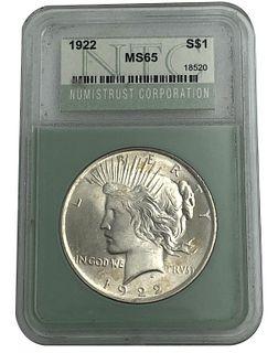 1922 Peace Dollar Silver Coin