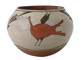 Native American Zia Ceramic Pottery Vase