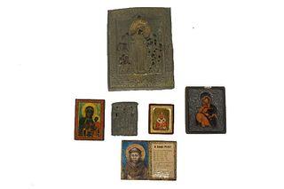 Six (6) European Religious Byzantine Icons