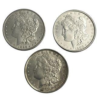 Morgan Silver Dollar Lot 1889 1890 1900 Morgan Dol
