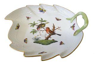 Herend Rothschild Bird Porcelain Leaf Tray