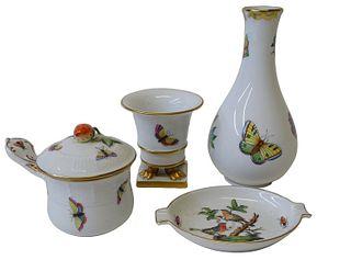 Four (4) Herend Porcelain Miscellaneous Pieces