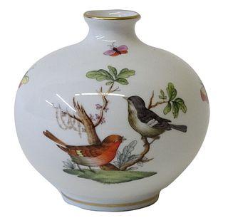 Herend Rothschild Bird Porcelain Vase