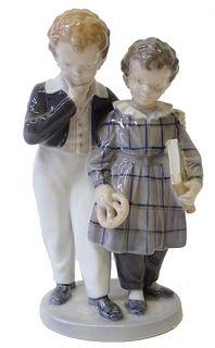 Royal Copenhagen Porcelain Figural Group
