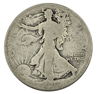 1916-S Key Date Walking Liberty Half Dollar Coin