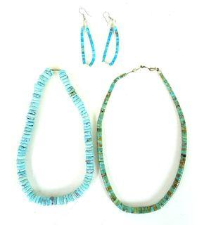 Navajo Turquoise Jewelry Set