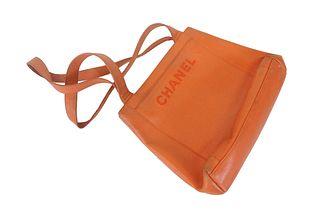 Chanel Orange Leather Bag