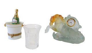 Three (3) Miscellaneous Lots of Limoge, Lalique