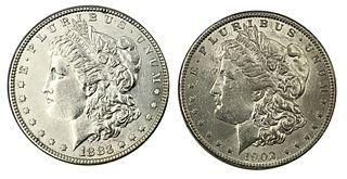 1883 and 1902-O Morgan Silver Dollar Coin Lot