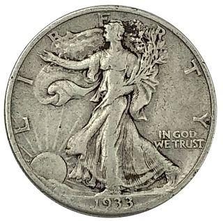 1933-S Key Date Walking Liberty Half Dollar Coin