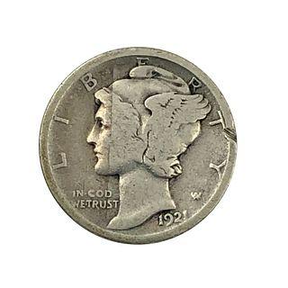 1921-O Key Date Dime Coin
