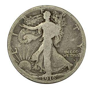 1916-D Walking Liberty Half Dollar Coin