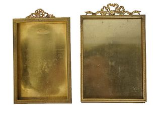 Pair of Gold Gilt Brass Picture Frames