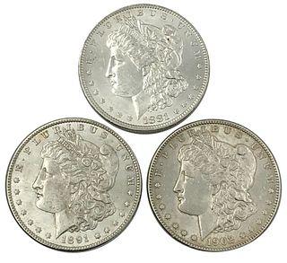 1881-O 1891 and 1902-O Morgan Silver Dollar Coin L