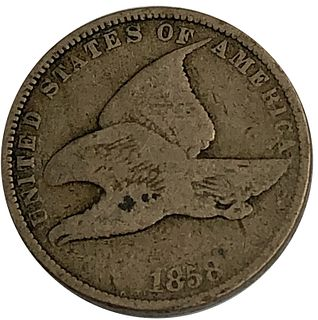 1858 Flying Eagle Cent Coin Large Letter