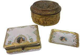 Jenning Brothers Ormolu Box & Two Gold Gilt