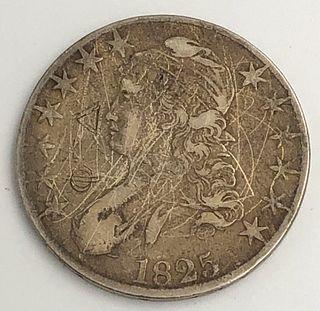 1825 Capped Bust Half Dollar Coin