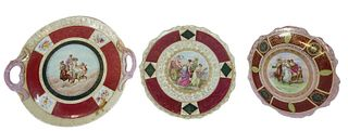 Three (3) Royal Vienna Gold Gilt Porcelain Plates