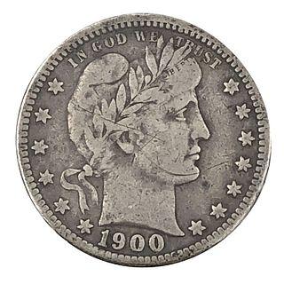1900-O Barber Quarter Dollar