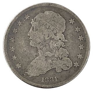 1831 Capped Bust Quarter Dollar Coin