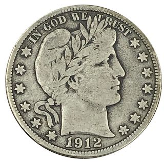 1912-D Barber Half Dollar Coin