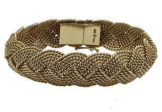 14K Yellow Gold Braided Bangle Bracelet Appraised