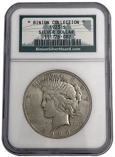 Binion Collection 1923-S Peace Dollar