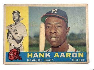 Hank Aaron 1960 Topps #300 Baseball Card
