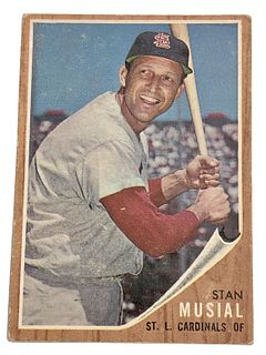 Stan Musial 1962 Topps #50 Baseball Card
