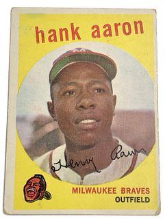 Hank Aaron 1959 Topps #380 Baseball Card