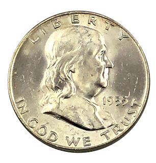 1955 Gem BU Proof Franklin Half Dollar