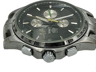 Tag Heuer Link Chronograph Writwatch Mens Date Wat