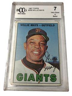 Willie Mays 1967 Topps #200 Baseball Card